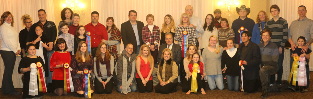 Chrislar group at Rowley Riding & Driving Club Annual Banquet on Saturday, January 6, 2018