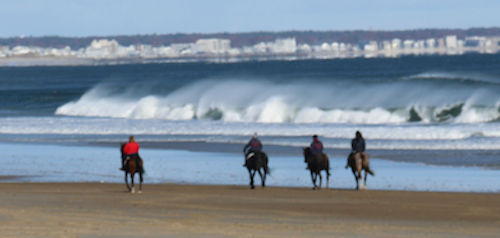 Chrislar group riding at Salisbury beach