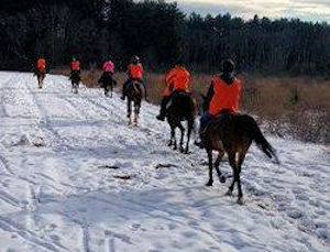 Chrislar students enjoying a winter trail ride