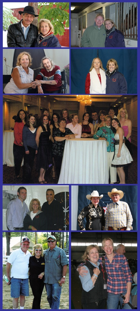photo collage of old friends, trainers, riding instructors, clients and friends