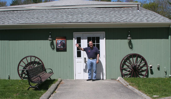 Chrislar Farm entrance - Larry Welcoming all at barn entrance