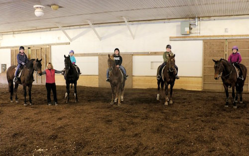 Chrislar group at horse camp day