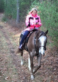 Very relaxing trail ride on Appaloosa gelding
